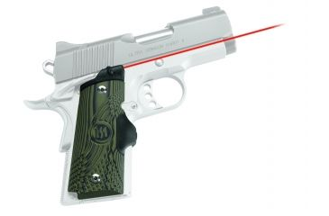 Crimson Trace Master Series Red Laser Sight Grip for 1911 Compact Handguns  w/ Green Finish