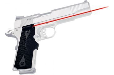 Crimson Trace Pistol Lasergrips, 633nm, pt5in, 50 ft, 5mw, Black LG401