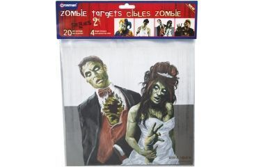 Crosman Zombie Targets 9.75 X 9 Inch Targets With 5 Each Of 4 Different Zombie Designs For A Total Of 20 Targets Per Package
