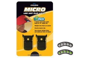 Cyclops Micro Hat Clip 2 Pack White LED CYC-MHC2PK-W
