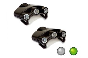 Cyclops Orion Hat Clip Light 3 LED 2 Pack w/ White and Green LEDS CYC-HC1WGPK
