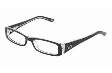 D&G DD 1179 Eyeglasses Styles - Black Top On Clear Frame w/Non-Rx 49 mm Diameter Lenses, 675-4916