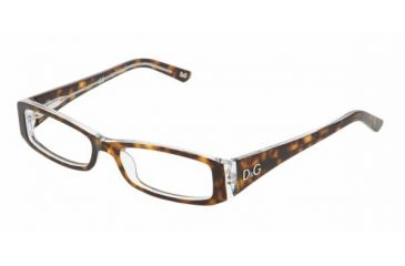 dda943d5156 D G DD 1179 Eyeglasses Styles - Havana On Transparent Frame w Non-Rx 51