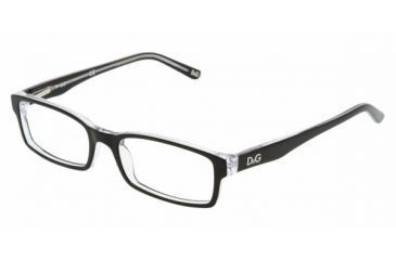 369325aee27 D G DD 1180 Eyeglasses Styles - Black Top On Clear Frame w Non-Rx
