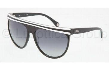 D&G DD 3041 Sunglasses Styles - White On Black Gray Gradient Frame, 15748G-5916