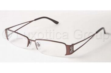 D&G DD 5027 Eyeglasses Styles -  Brown Frame w/Non-Rx 50 mm Diameter Lenses, 012-5015