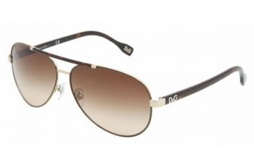 D&G DD 6078 Sunglasses Styles - Pale Gold/Brown Brown Gradient Frame, 101813-6112