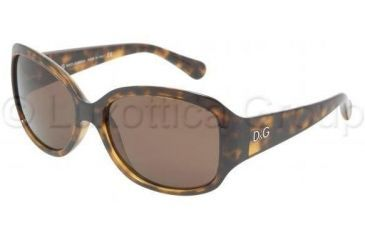 D&G DD8065 Single Vision Prescription Sunglasses DD8065-502-73-5916 - Lens Diameter: 59 mm, Frame Color: Havana