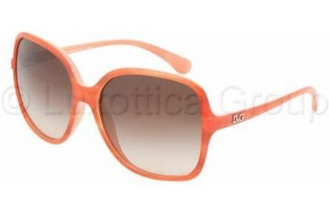 D&G DD8082 Single Vision Prescription Sunglasses DD8082-169113-5815 - Lens Diameter: 58 mm, Frame Color: Orange Watercolor