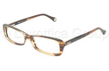 D&G DD1191 Bifocal Prescription Eyeglasses 1572-5116 - Orange Havana