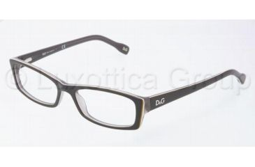 D&G DD1212 Bifocal Prescription Eyeglasses 1871-5016 - Black/Yel/White/Gray