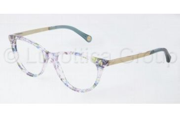 D&G DD1213 Progressive Prescription Eyeglasses 1876-5017 - Green/Violet Flowers