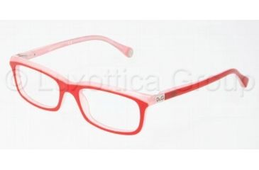 D&G DD1214 Progressive Prescription Eyeglasses 1764-5117 - Red On Pink
