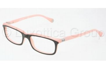 D&G DD1214 Progressive Prescription Eyeglasses 1878-4917 - Black On Pink