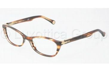 D&G DD1218 Eyeglass Frames 1572-4917 - Striped Havana