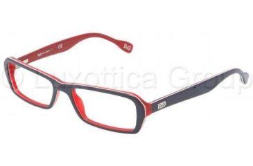 D&G DD1225 Eyeglass Frames 1872-5016 - Blue / Red / White / Red Frame