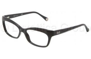 D&G DD1232 Single Vision Prescription Eyeglasses 501-5316 - Black Frame