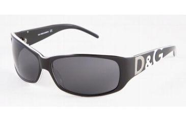 D&G DD3009-612-87-6414 Sunglasses Tortse With Blue Stripe Frame / 64 mm Gray Blue Lenses