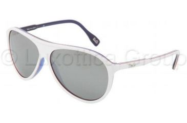 D&G DD3075 Single Vision Prescription Sunglasses DD3075-18736G-6113 - Lens Diameter: 61 mm, Frame Color: White / Red / White / Blue