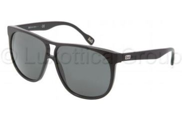 D&G DD3076 Single Vision Prescription Sunglasses DD3076-501-87-5911 - Frame Color Black, Lens Diameter 59 mm