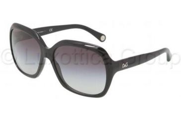 D&G URBAN DD3077 Single Vision Prescription Sunglasses DD3077-501-8G-58 - Lens Diameter 58 mm, Frame Color Black