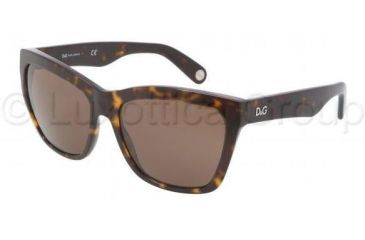 D&G Lettering DD3080 Progressive Prescription Sunglasses DD3080-502-73-5617 - Lens Diameter 56 mm, Frame Color Havana