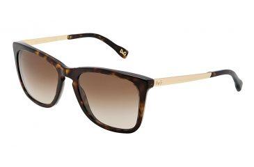 D&G DD3081 Sunglasses 502/13-5419 - Havana Frame, Brown Gradient Lenses