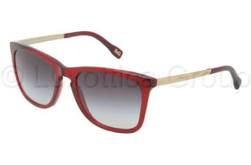 D&G DD3081 Bifocal Prescription Sunglasses DD3081-550-8G-5419 - Lens Diameter 54 mm, Frame Color Transparent / Red