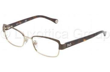 D&G DD5102 Progressive Prescription Eyeglasses 1101-4916 - Black / Silver Frame