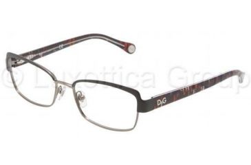D&G DD5102 Single Vision Prescription Eyeglasses 1102-4916 - Black Gunmetal Frame