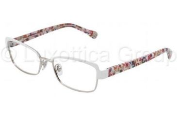 D&G DD5102 Single Vision Prescription Eyeglasses 1104-4916 - Black / Silver Frame