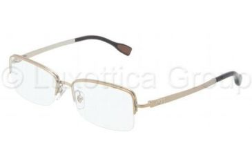 D&G DD5107 Progressive Prescription Eyeglasses 488-5216 - Matte Pale Gold Frame