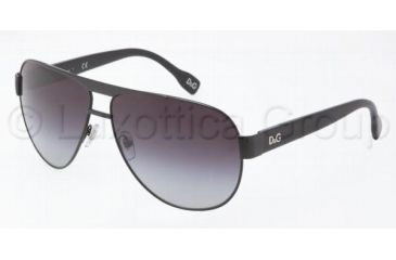 D&G DD6080 Bifocal Prescription Sunglasses DD6080-064-8G-6312 - Frame Color: Black, Lens Diameter: 63 mm