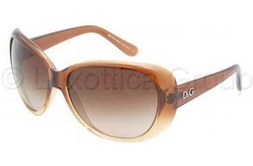 D&G DD8081 Sunglasses 178113-6215 - Brown Gradient Brown Gradient