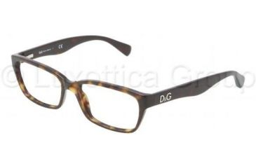 D&G Glitter DD1249 Bifocal Prescription Eyeglasses 502-5116 - Havana Frame