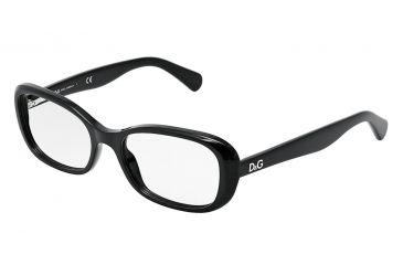 D&G PLAYFUL CHIC DD1247 Eyeglass Frames 501-5017 - Black Frame