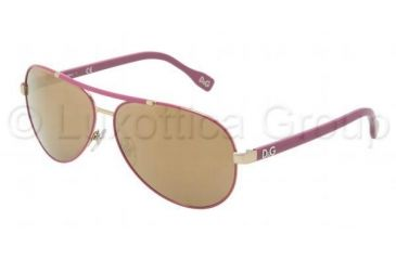 D&G Sunglasses DD6078 1115F9-6112 - Pale Gold Violet Frame, Brown Mirror Bronze Lenses