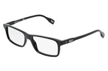 D&G Vibrant colours DD1244 Eyeglass Frames 501-5316 - Black Frame