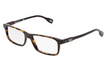 D&G Vibrant colours DD1244 Eyeglass Frames 502-5316 - Havana Frame