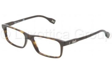 D&G Vibrant colours DD1244 Progressive Prescription Eyeglasses 502-5116 - Havana Frame