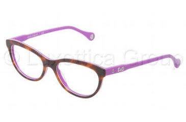 D&G VIBRANT COLOURS DD1245 Eyeglass Frames 2608-5116 - Havana On Violet Frame