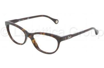 D&G VIBRANT COLOURS DD1245 Single Vision Prescription Eyeglasses 502-5116 - Havana Frame