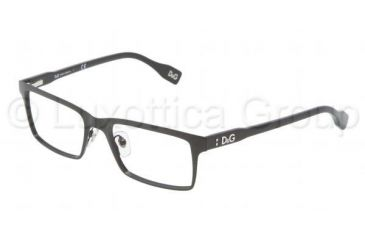 D&G Vibrant colours DD5115 Single Vision Prescription Eyeglasses 064-5017 - Black Frame