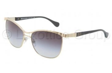D&G WAVE DETAIL DD6088 Sunglasses 11168G-5717 - Pale Gold Frame, Gray Gradient Lenses