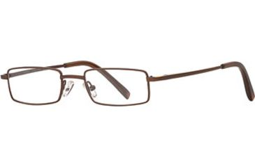 Dakota Smith Abrasion SEDY ABRA00 Single Vision Prescription Eyewear - Brown SEDY ABRA004535 BN