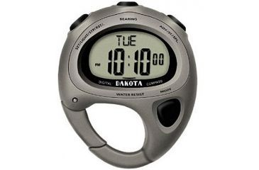 Dakota Watches Digital Compass Clip, Titanium Color Finish 4070-7
