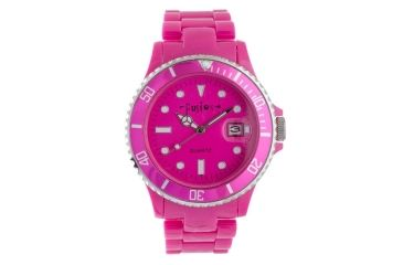 Dakota Watches Fusion Color Link, Hot Pink Dial & Plastic Link Band 5544-2