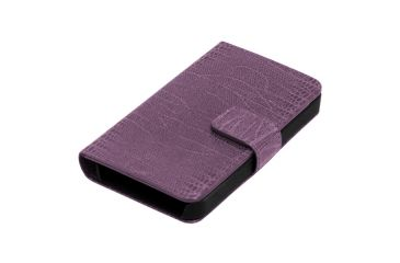 Dakota Watches Genuine Leather iPhone Case, Lavender Lizard Grain Leather 6216-6