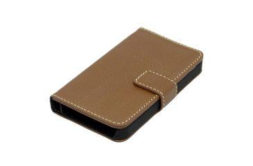 Dakota Watches Genuine Leather iPhone Case, Tan Shrunken Leather 6218-2