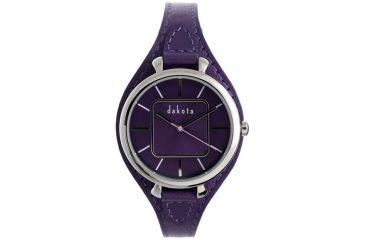 Dakota Watches Midsize Colorful Leather, Purple Dial, Purple Leather Band 3029-1
